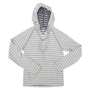 American Rag Long Sleeve Striped Hooded Shirt XS